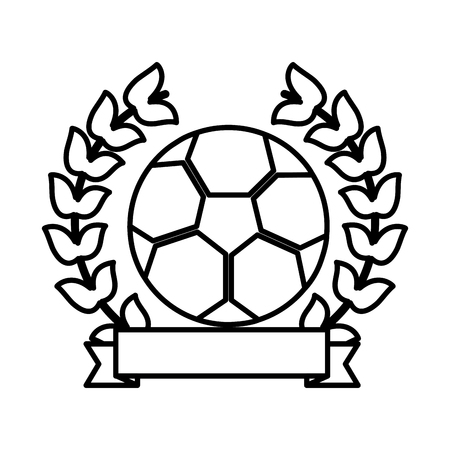 football soccer emblem image vector illustration design