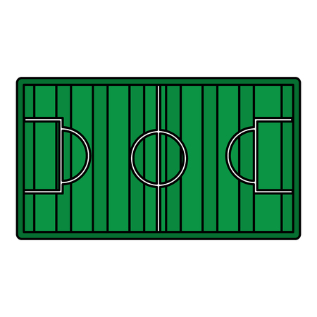 field topview football soccer icon image vector illustration design