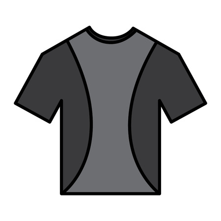 t shirt crew neck icon image vector illustration design Imagens - 93454971