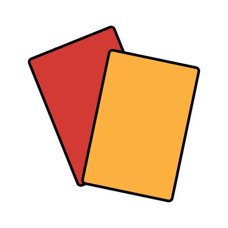 card referee football soccer icon image vector illustration design
