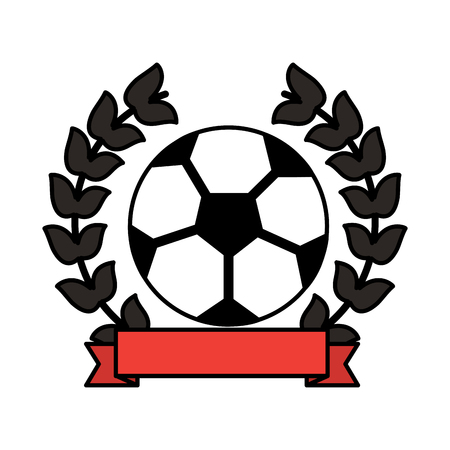 ball football soccer emblem image vector illustration design