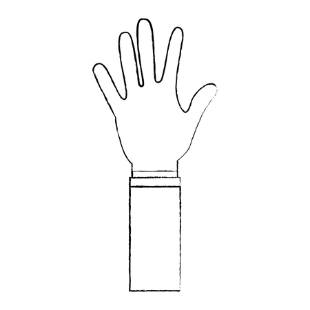 5本の指ベクトルイラストを示す開く手  イラスト・ベクター素材