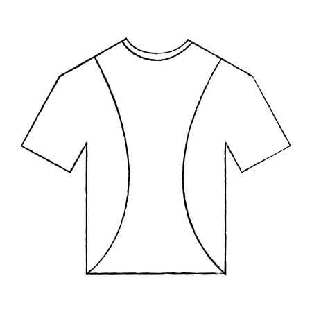 티셔츠 제복 스포츠 의류 아이콘 벡터 일러스트 레이션