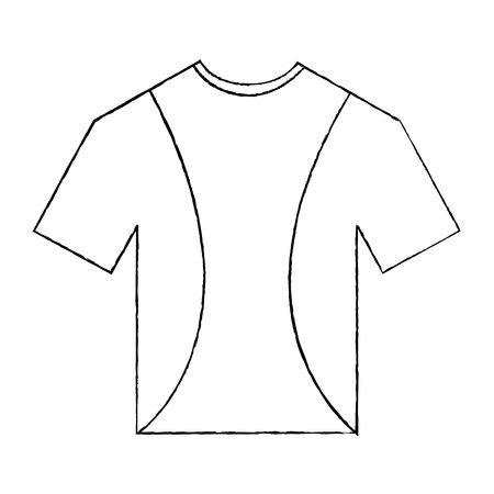 t-shirt uniforme sport kleding pictogram vectorillustratie Stock Illustratie