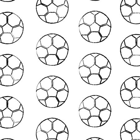 Illustrazione senza cuciture di vettore del modello dell'attrezzatura del pallone da calcio Archivio Fotografico - 93453616