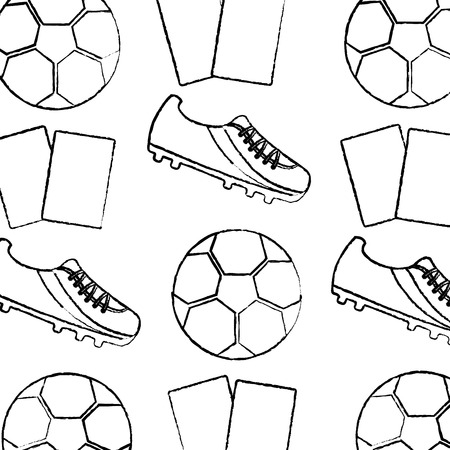Soccer shoe ball cards seamless pattern vector illustration Stock Vector - 93506085