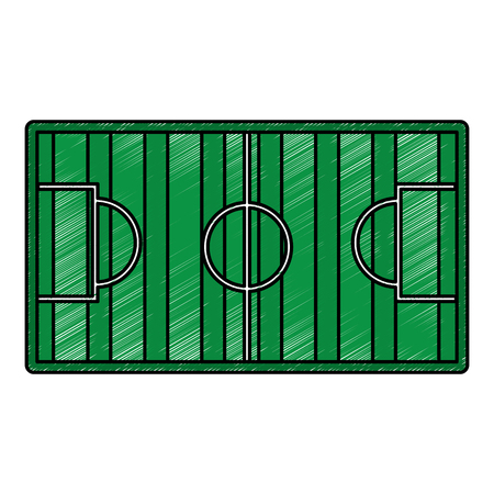 Soccerr field goal sport top view vector illustration.