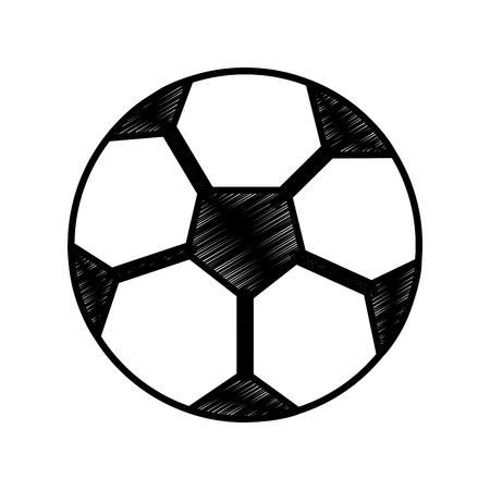 サッカーボール球オブジェクト装備ベクトルイラスト