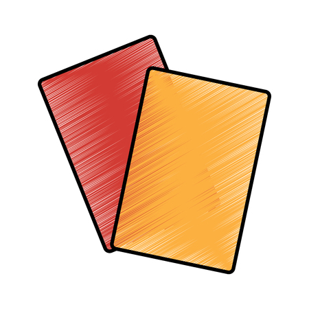 two cards soccer element equipment vector illustration