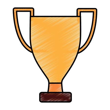 trophy winner award competition sport vector illustration Illustration