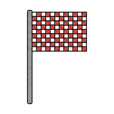 sport flag grid competition icon vector illustration