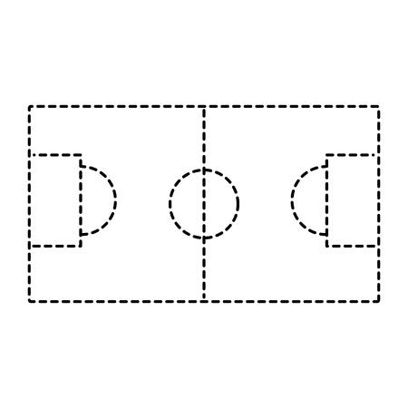 Fußballplatz Ziel Sport Draufsicht Vektor-Illustration Standard-Bild - 93455069