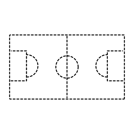 soccer field goal sport top view vector illustration Illusztráció
