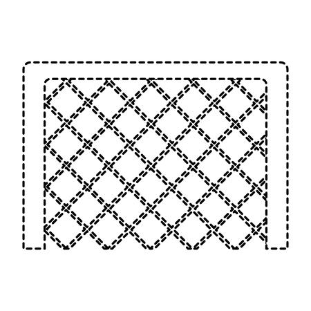 soccer goal grid equipment icon vector illustration Ilustrace