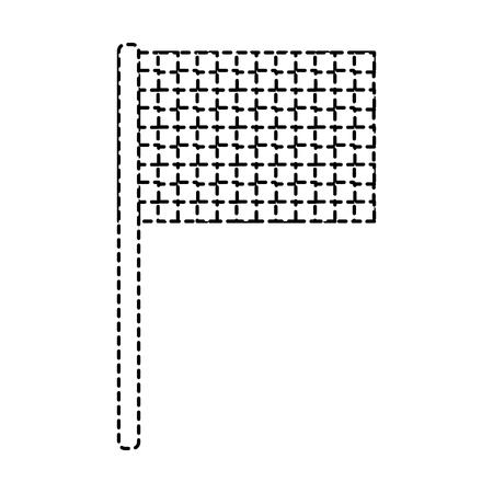 Sport Flagge Raster Wettbewerb Symbol Vektor-Illustration Standard-Bild - 93455372
