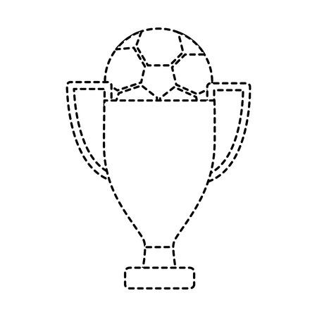 trophy soccer ball winner sport vector illustration Illustration