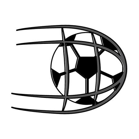 ネットシュートスポーツベクトルイラストでサッカーボール  イラスト・ベクター素材