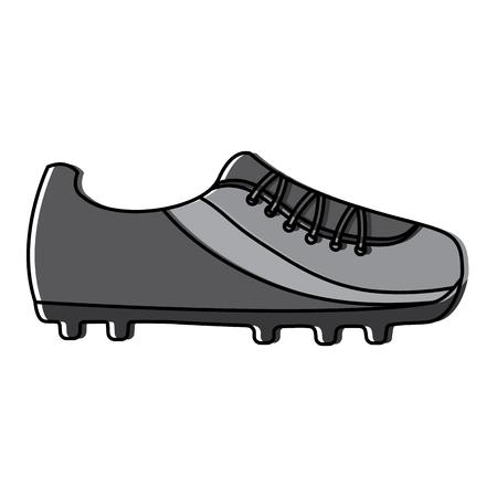 schoen voetbal pictogram apparatuur sport vector illustratie Stock Illustratie