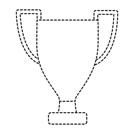 trophy winner award competition sport vector illustration Ilustração