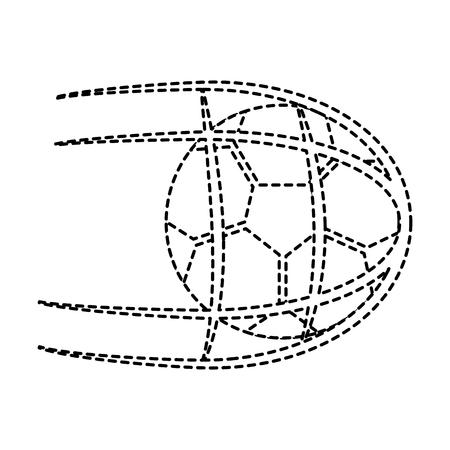 ネットでサッカーボール。白い背景に隔離されたベクトルイラストベクトルイラスト