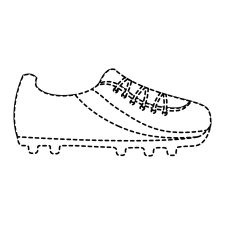 shoe soccer icon equipment sport vector illustration