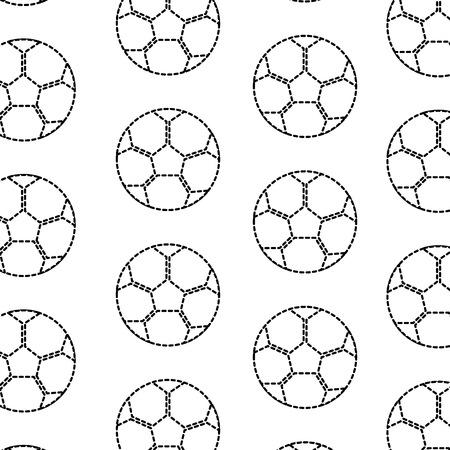 Illustrazione senza cuciture di vettore del modello dell'attrezzatura del pallone da calcio Archivio Fotografico - 93455376