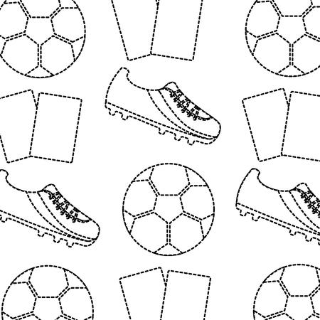 Football ball ball seamless pattern vector illustration Banque d'images - 93458881