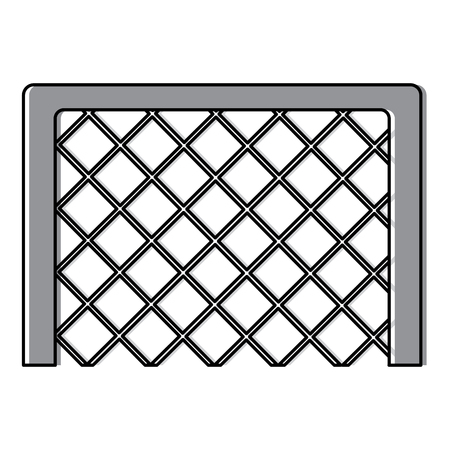 soccer goal grid equipment icon vector illustration Ilustração