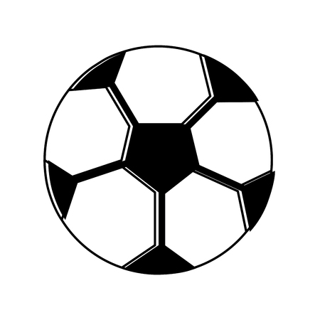 soccer ball sphere object equipment vector illustration