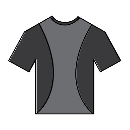 t-shirt uniforme sport kleding pictogram vectorillustratie Stock Illustratie