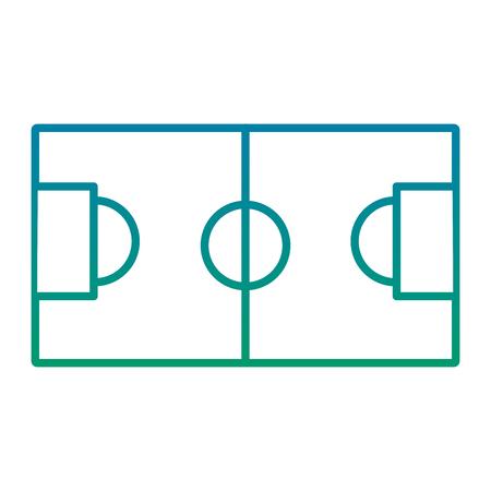 サッカーフィールドゴールスポーツトップビューベクトルイラスト