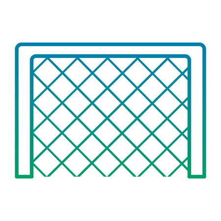 soccer goal grid equipment icon vector illustration Illustration