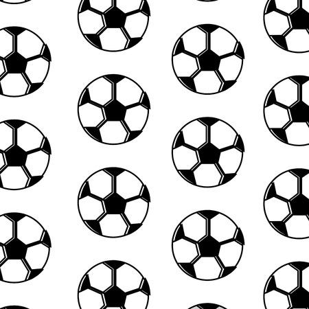 soccer ball equipment seamless pattern vector illustration Illustration