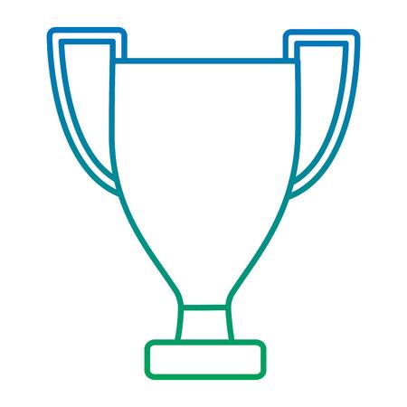 trofee cup pictogram afbeelding vector illustratie ontwerp blauw tot groen ombre