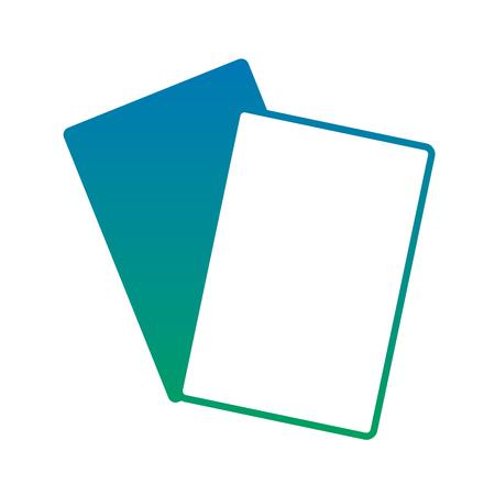 ドキュメントペーパー空白アイコン画像画像ベクトルイラストデザイン青から緑のオンブレ