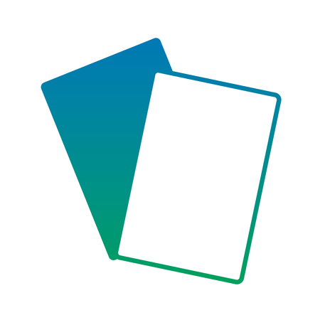 documents papers blank icon image vector illustration design  blue to green ombre