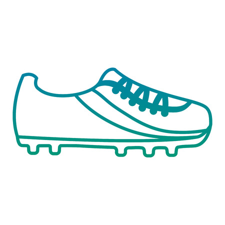 cleat shoe football soccer icon image vector illustration design  blue to green ombre