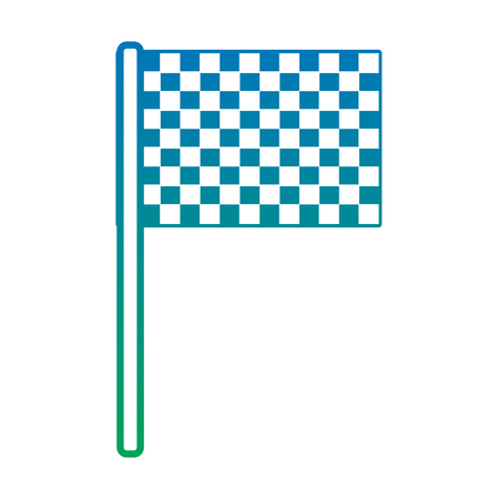 flag checkered icon image vector illustration design  blue to green ombre Ilustração