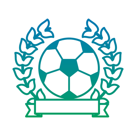 ball football soccer emblem image vector illustration design  blue to green ombre 向量圖像