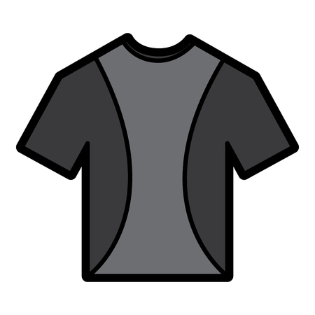 t shirt crew neck icon image vector illustration design Imagens - 93455737