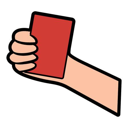 red card referee football soccer icon image vector illustration design  Illustration