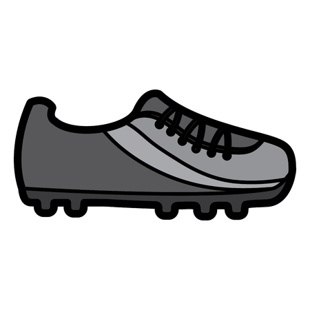 cleat shoe football soccer icon image vector illustration design