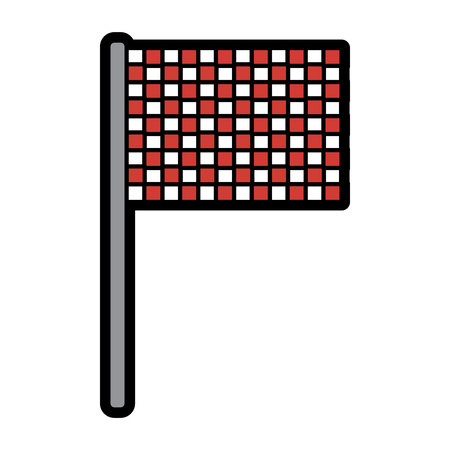 flag checkered icon image vector illustration design