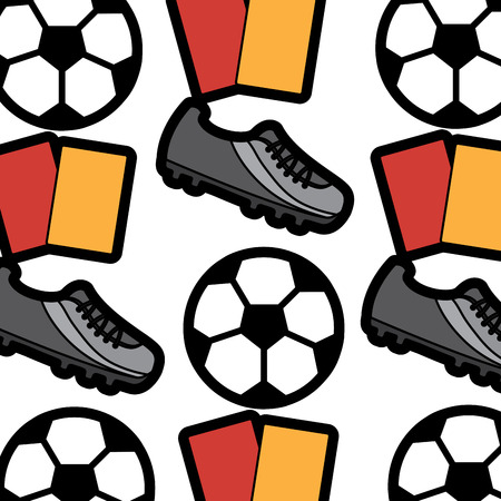 ball cleat cards football soccer pattern image vector illustration design