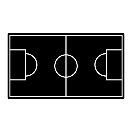 field topview football soccer icon image vector illustration design  black and white 向量圖像