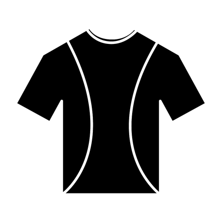 t shirt crew neck icon image vector illustration design  black and white Illustration