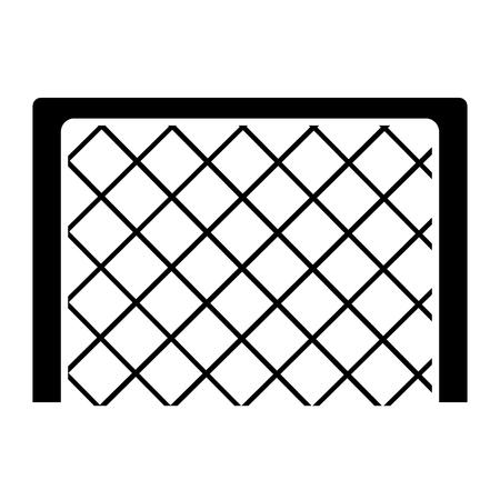 goal net football soccer icon image vector illustration design  black and white Ilustrace