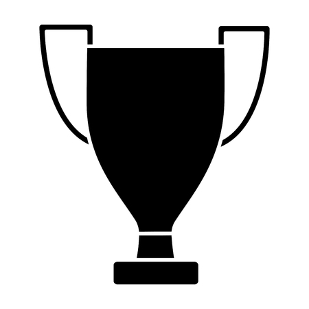 trofee cup pictogram afbeelding vector illustratie ontwerp zwart en wit