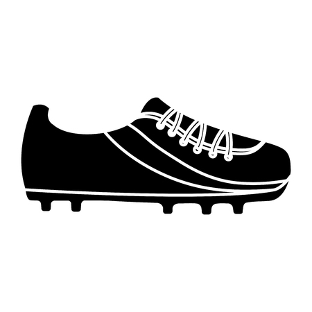 cleat shoe football soccer icon image vector illustration design  black and white