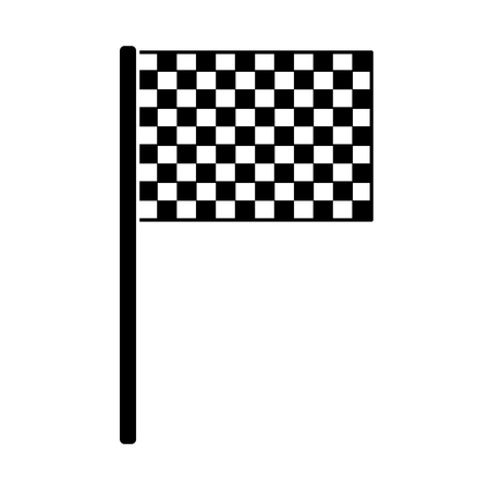flag checkered icon image vector illustration design  black and white Ilustração